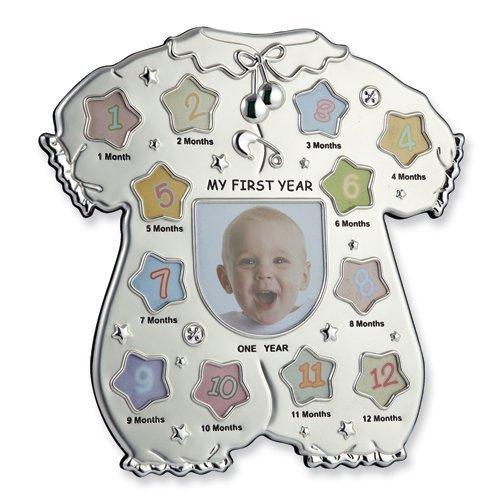 - Elegance Silver Baby First Year Frame