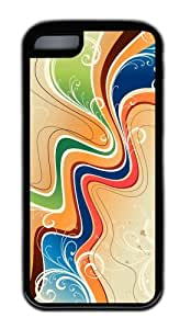 Customized Case Patterns Swirls 5 Black for Apple iPhone 5C