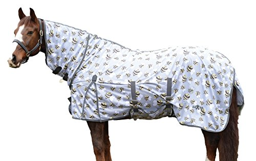 Saxon Mesh Combo Neck Fly Sheet Bee Print - Soft Mesh Saxon Weatherbeeta