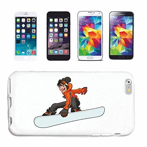 """cas de téléphone iPhone 6S """"SNOWBOARDER SNOWBOARD SNOWBOARD RIDER SNOWBOARDER WINTER SPORT PISTES"""" Hard Case Cover Téléphone Covers Smart Cover pour Apple iPhone en blanc"""