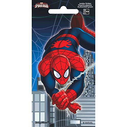 Marvel Super Hero Party Spider-Man Jumbo Sticker Favours, Paper, 5