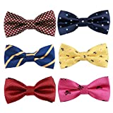 6pc Adjustable Pre-tied Boys Bow Tie Accessory Set by Zakka Republic (BBT-05)