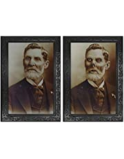 Horror Decoration Lenticular 3D Changing Face Moving Picture Frame Portrait Lady Little Girl Monster Haunted Spooky Decorations for Horror Theme Party Home Decor (Gentleman)