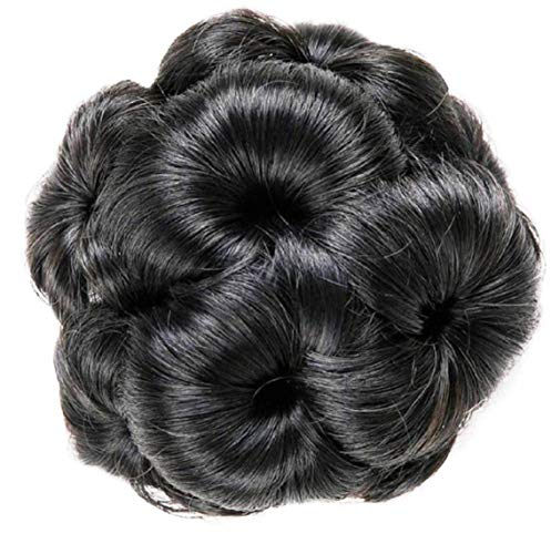 BLUSHIA Claw Style Black Hair Bun For Women And Girls