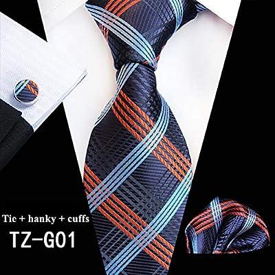 WOXHY Corbata de los Hombres Corbatas clásicas para Hombre Seda ...