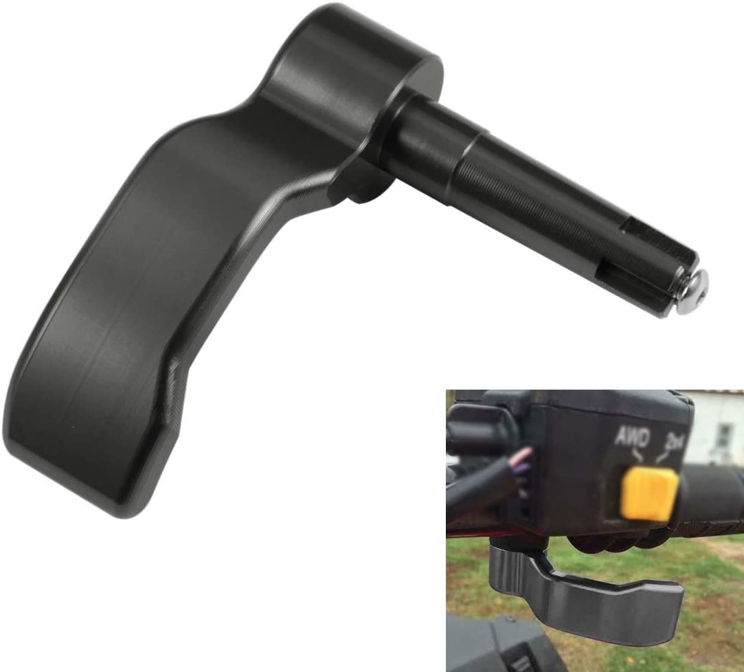 PBYMT Black Aluminum Thumb Throttle Control Lever Compatible for Polaris Scrambler Sportsman 550//570//850//1000 2008-2019