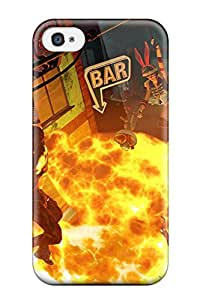 Hot Tpu Fashionable Design Sunset Overdrive Rugged Case Cover For Iphone 4/4s New