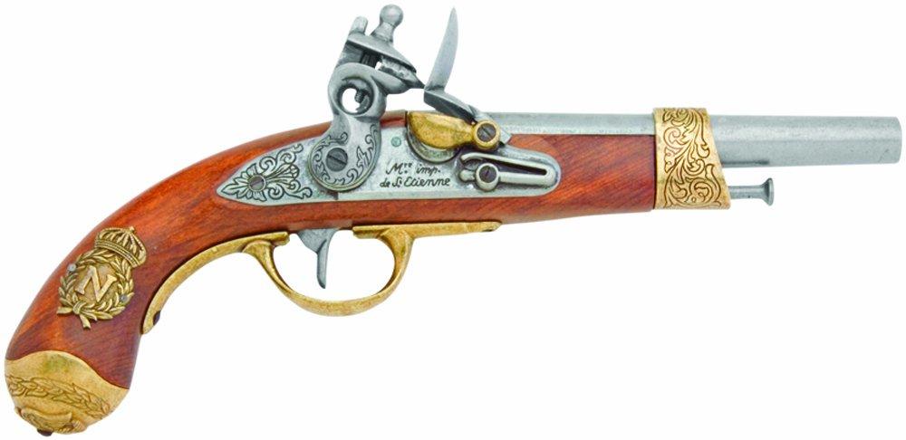 Pistola de chispa de Denix Napoleon, latón - Réplica que no dispara