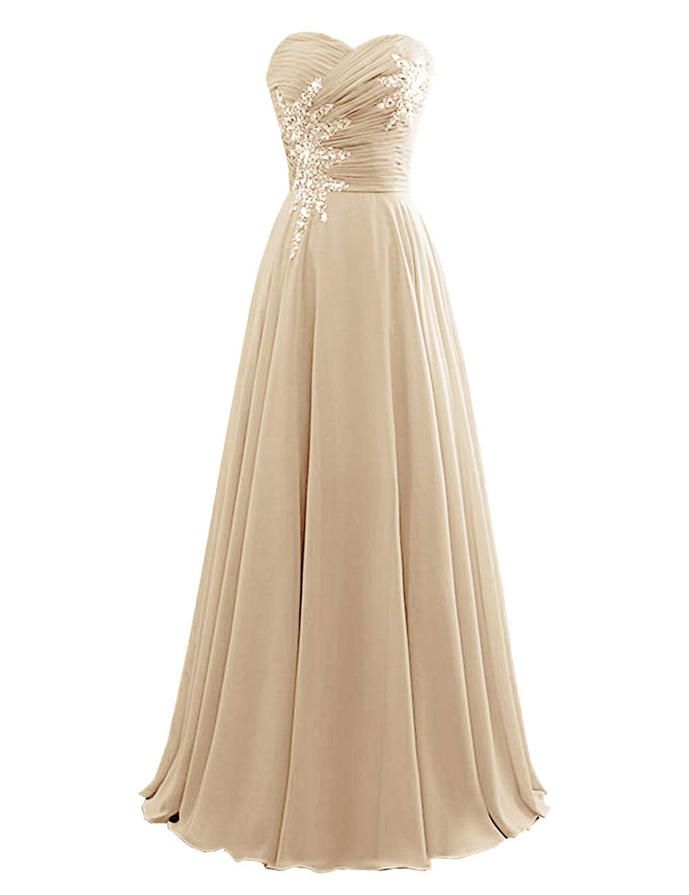 Women's Strapless Bridesmaid Dresses