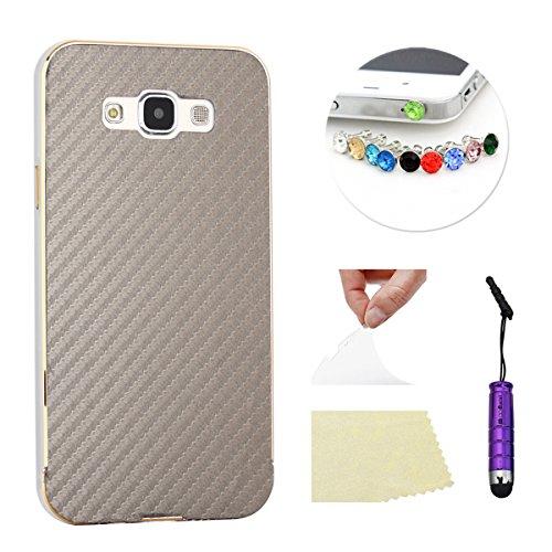 Slim Shockproof Case for Samsung Galaxy E7 (Silver) - 2