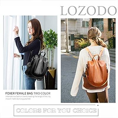 LoZoDo Women's Pu Leather Backpacks Purse Ladies Casual Shoulder Bags School Bag for Girls
