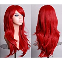 Viigoo 70cm 300g Long Hair Curls Cosplay Wigs Party wig 12 Colors Available (Red)