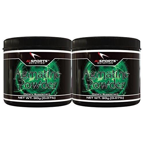 AI Sports Agmatine Powder Twin Pack. 2X 30 Gram Tubs