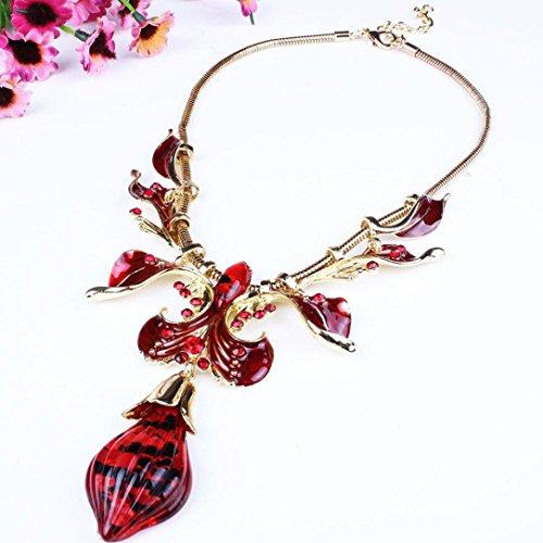 Amber Rhinestone Necklace - 8
