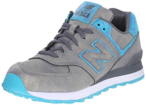 New Balance Womens WL574 Mineral Glow Pack Classic Running Shoe Grey/Blue eO96seE