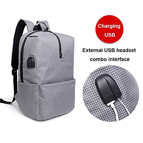 Backpack Simple Fashion Student Grey Wear Business Trend Waterproof Bag Shoulder Travel Casual resistant Zzg Men's EqwdWAPnE