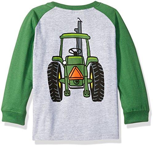John Deere Toddler Boys Big Tractor Tee, Heather Grey/Green, 4T