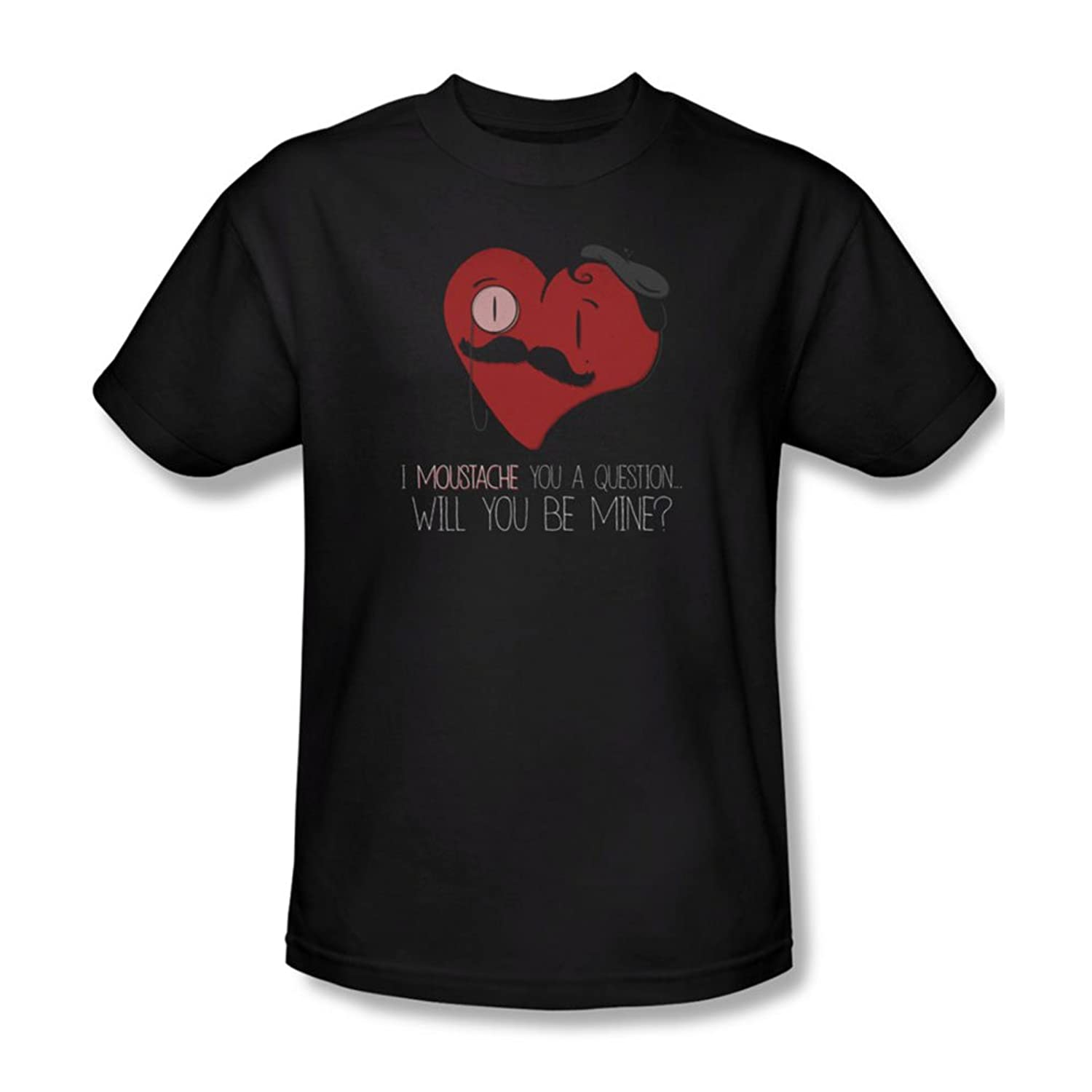 Popping The Question - Mens T-Shirt In Black