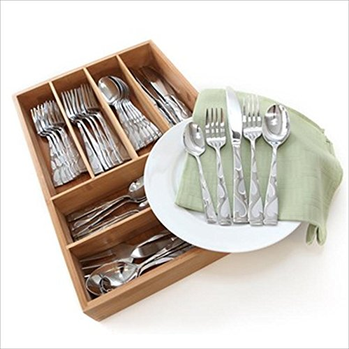 Oneida Tuscany 45-Pc Set, Service for 8 with Bamboo Storage Caddy