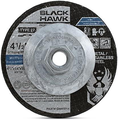 Depressed Center Wheel Hardness Grade S 1//4 in Thick 4 1//2 in Dia 195 Pack 7//8 Arbor