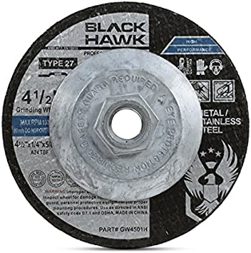 1//4 in Thick 24 Grit 40 Pack Hardness R Depressed Center Wheel 6 in Dia Type 27