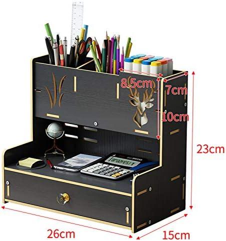 Kangsur Desktop Kosmetik Lagerschrank Büro Werkzeugkasten Hölzern DIY Multifunktional Aufbewahrungskiste H02-10