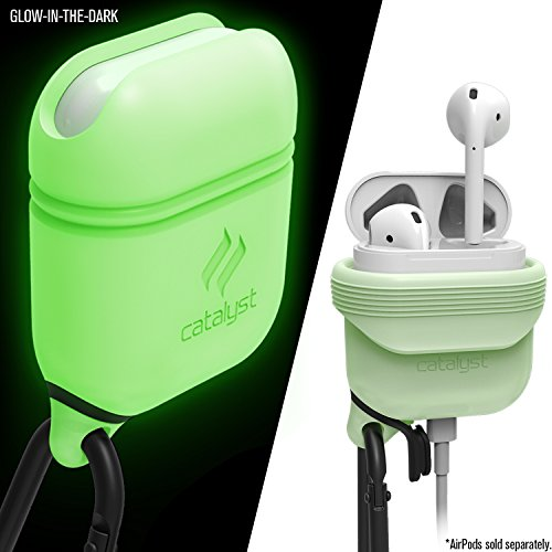 Catalyst Premium Quality Waterproof Shock Resistant Case for Apple AirPods (Glow-in-The-Dark)