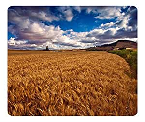 Decorative Mouse Pad Art Print Landscape and Plants Beautiful Wheat Field Hdr by icecream design