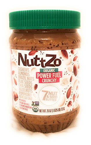 Nuttzo Organic Vegan Power Fuel Seven Nut and Seed Butter, Crunchy - 26 Oz.