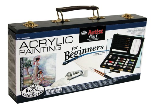 Royal Brush RSET-ACR3000 Royal and Langnickel Acrylic Painting Artist Set for Beginners