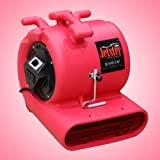 Jetster ETL Listed Air Mover Carpet Blower and Floor Dryer with low amps + GFCI and Carpet Clamp 1 Year Warranty! RED, Appliances for Home