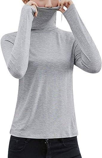 Kasen Femme sous Vêtement Col Haut Thermique Manches Longues