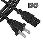 [UL Listed] Powseed 6Ft 2 Prong Polarized AC Wall Power Cable Cord Plug Sony Playstation 1 2 PS1 PS2, Vizio Sharp Sanyo Emerson TV, Arris Router Modem,