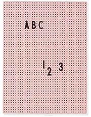 Design Letters Bericht, ABS board en 100% polyester lint, roze, één maat