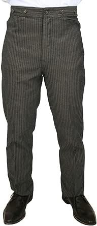 Historical Emporium Men's High Waist Ludlow Cotton Striped Trousers