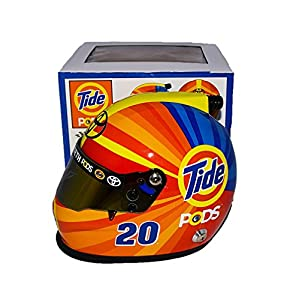 AUTOGRAPHED 2017 Matt Kenseth #20 Tide Pods Racing FINAL SEASON RETIREMENT (Joe Gibbs Team) Monster Energy Cup Series Signed Lionel Collectible NASCAR Replica Mini Helmet with COA by Trackside Autographs
