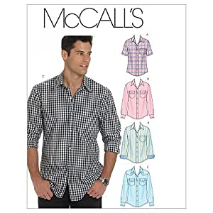 McCall's Patterns M6044 Men's Shirts, Size XM (SML-MED-LRG)