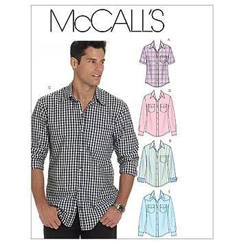 Amazon.com: McCall's Patterns M6044 Men's Shirts, Size XN (X-XXL ...