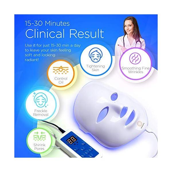 Dermashine Pro Wireless 7 Color LED Mask for Face | Photon