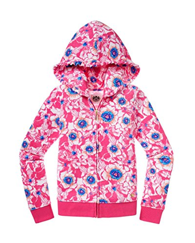 Juicy Couture Highlighter Floral Collection (10, Highlighter Floral/Terry Hoodie) (Juicy Couture Hooded Terry)