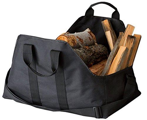 canvas log tote bag carrier