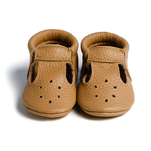 LittleBeMocs T-Strap Baby Moccasins (Italian Leather) Soft Sole Shoes for Boys and Girls | Infants, Babies, Toddlers by Little bee mocs (Image #1)