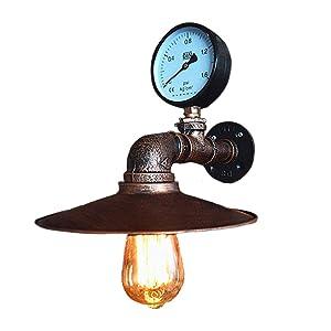Applique Murale Tubes d'eau Vintage Industrielle en Métal avec Style Rétro pour Bar, Cuisine, Salon et Chambre à Coucher, Lampe à Douille E27