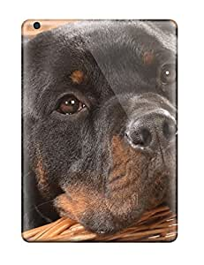 First-class Case Cover For Ipad Air Dual Protection Cover Rottweiler In A Basket
