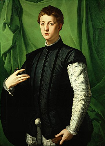 Oil Painting 'Agnolo Bronzino - Lodovico Capponi, 1550-55', 12 x 17 inch / 30 x 42 cm , on High Definition HD canvas prints is for Gifts And Game Room, Hallway And Kids Room Decoration
