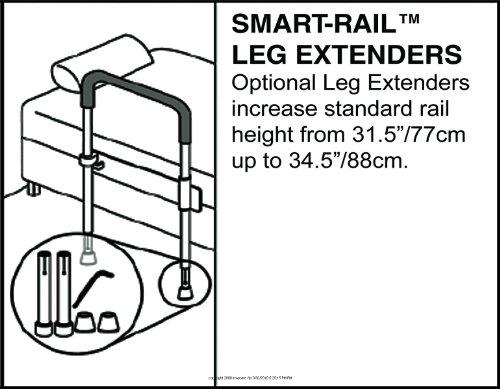Smart-Rail Leg Extenders, (1 PACK, 2 EACH)