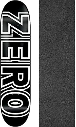 ゼロスケートボードボールドブラック/ホワイトスケートボードDeck – 8.25