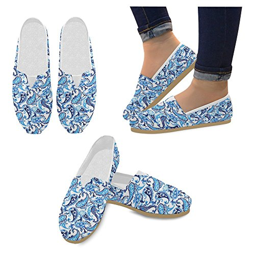 Fashion Classic 1 Sneakers On Casual Multi Loafers Shoes Canvas InterestPrint Slip Womens Flats qSOwx0