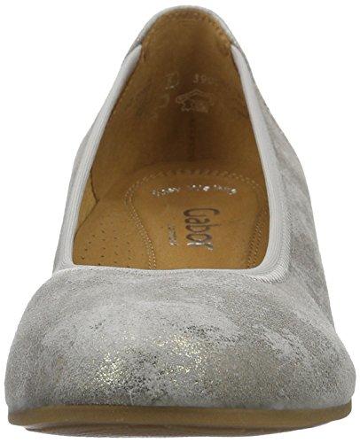 Gabor Shoes 62.69, Bailarinas Mujer Plateado (Taupe 93)