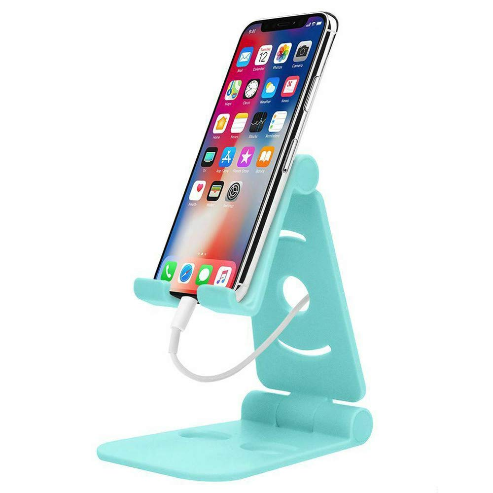 Efaster Foldable Swivel Phone Stand in Both Directions,Portable Bracket,Multi Colors Epacket Shipping for Small & Big Phones and Tablets (Blue)